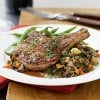 Walnut-Crusted Pork Chops with Vegetable Wild Rice