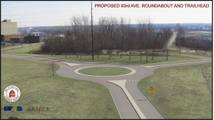 Crown Point updated on bike trail, roundabout