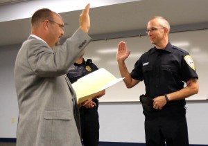 Former Hobart fire chief becomes one of city's newest cops