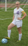 Merrillville girls soccer player Meagan Wise