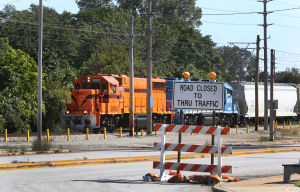 Trains, construction, puts Miller community in a quandary