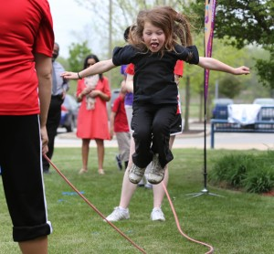 Kids learn about healthy living at Rockin' Recess