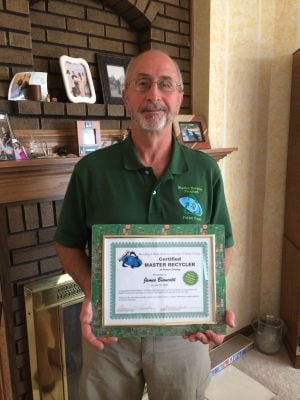 Ogden Dunes man first master recycler in the state