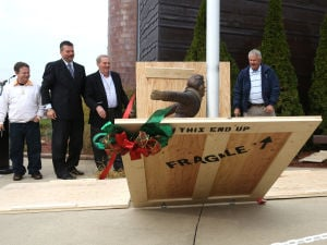 Gallery: Unveiling of Flick's lick statue