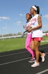 T.F. South's trackster Jhaliyah Anderson is blind.