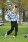 Lake Central's Matt Meneghetti tees off