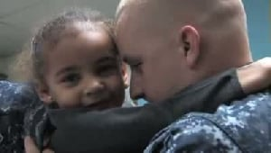 VIDEO: Sailor surprises daughter at school