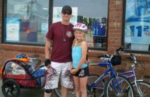Portage father, daughter bond on downstate trek
