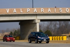 Valpo opens new Vale Park/Ind. 49 interchange