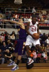 Morton's Vasha Davis grabs a rebound