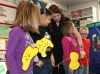 Students learn dental hygiene at Myers Elementary School
