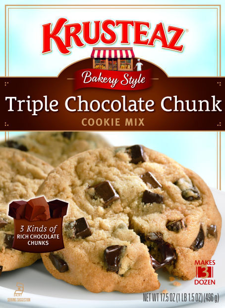 triple chocolate chunk cookie mix bakes up chewy and delicious cookies ...