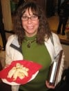 "Barb Pakan of Munster Displays ""Keflee"" a Fruit-Filled Hungarian Cookie"