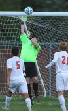 Chesterton at Crown Point boys soccer game