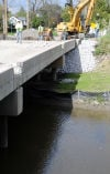 Work on the Northcote Bridge over the Little Calumet River between Hammond and Munster continues