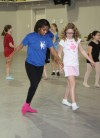 Lake Central High School Centralettes instruct youth at camp