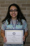 MIS student receives Congressional Certificate