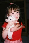 Alisha Christlieb with kitten