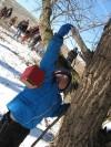 Scouts hike in Hegewisch Marsh