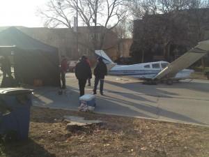 Valpo company stages fake plane crash for TV show