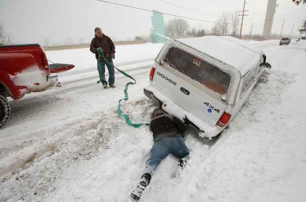 Road conditions improving but police still urging caution for Laporte county state of emergency