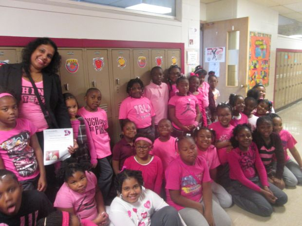 Thea Bowman students Think Pink for Breast Cancer Awareness
