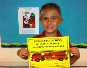 Winfield Elementary announces Fire Prevention Week Coloring Contest winners