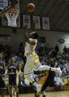 Valparaiso's Lavonte Dority looks to layup the ball against Murray State during Friday's home opener at the ARC.