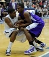 Merrillville's Anton Redmon and M.C.'s Alajowon Edwards