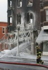 Whiting firefighters work to contain hot spots in downtown building