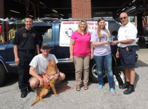 Pet oxygen masks donated to fire department