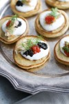 A healthy take on haute cuisine: blini and caviar