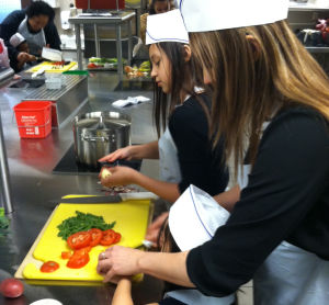 Students and parents learn the benefits of healthy meals
