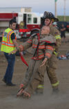 Firefighter competition at the Porter County Fairgrounds
