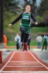 "Illianna Christian""s Janna Vree competes in the broad jump at Friday's Chicago Christian Invitational."