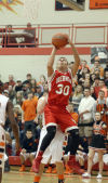 Hebron's Tony Rose shoots against Westville in Saturday's PCC tourney final.