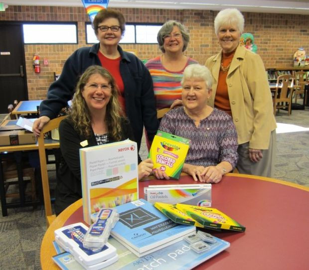 Altrusa funds art supplies for library