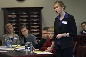 Mock murder trial challenges students