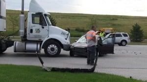 Four-vehicle crash clogs Calumet Avenue Monday morning