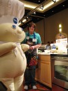 2012 Pillsbury Bake-Off Finalist Julie Beckwith and The Pillsbury Doughboy in Orlando