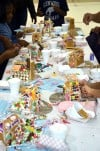Brookwood students build gingerbread houses