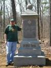 Chase and the 20th Indiana Infantry monument