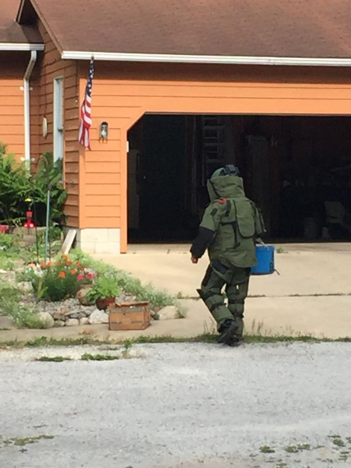 Bomb squad blows up roadside bomb in laporte county for Laporte county news