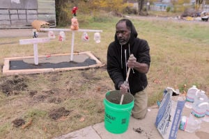 Crosses serve as memorial for Teaira Batey