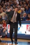 Bishop Noll coach Drew Trost reacts to a third-quarter call