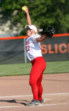 Crown Point's Miranda Elish pitches