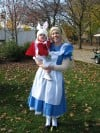 """Alice in Wonderland"" Mom with White Rabbit"