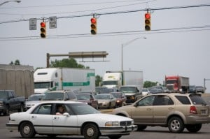 Motorists seeing red over congested intersections in the region