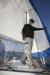 Kevin Lynch competes in Chicago to Mackinac race