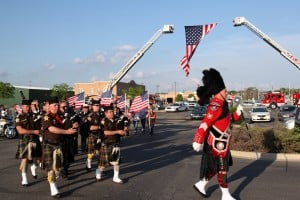 Local police, firefighters salute World War II veterans